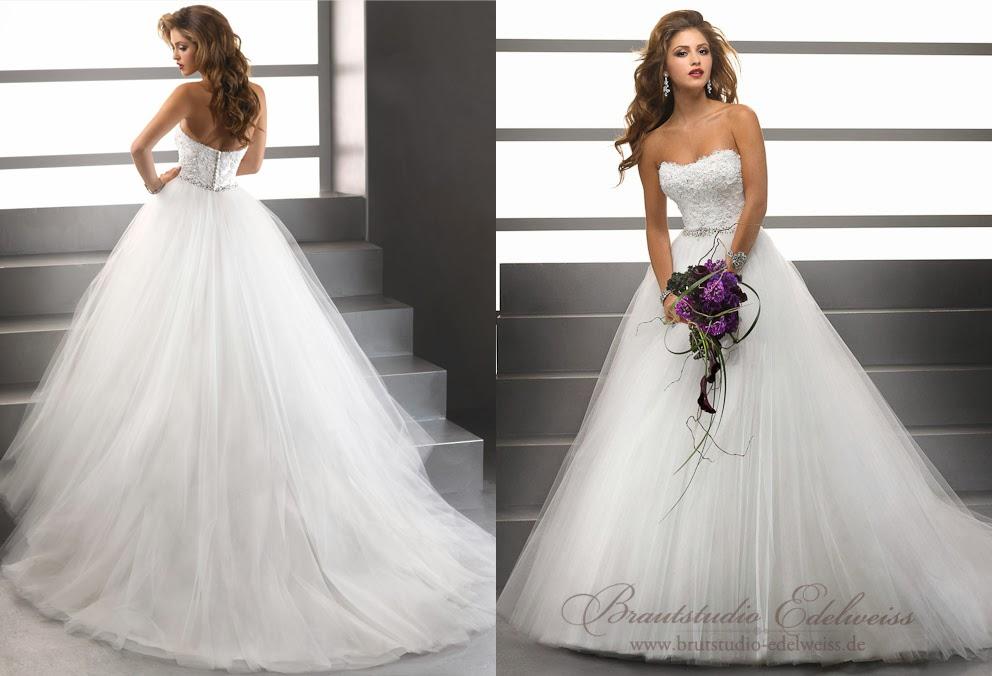 Ungewöhnlich Tüll Hochzeitskleider Fotos - Brautkleider Ideen ...