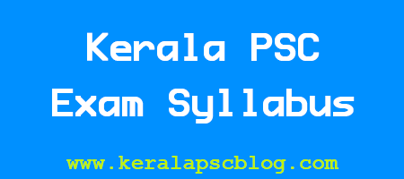 Kerala PSC Overseer/Draftsman Exam Detailed Syllabus