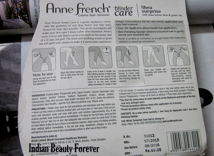 Anne French Hair remover Cream review how to use