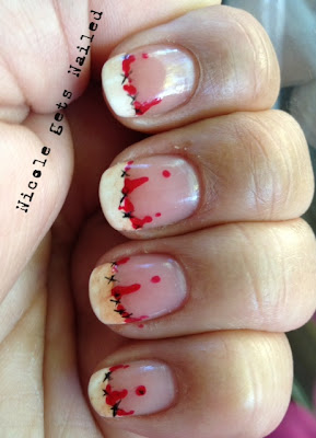 Bloody Halloween Nail Art