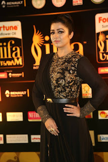 Charmi Kaur Latest Stills in Black Designer Dress at IIFA Utsavam Awards 2016