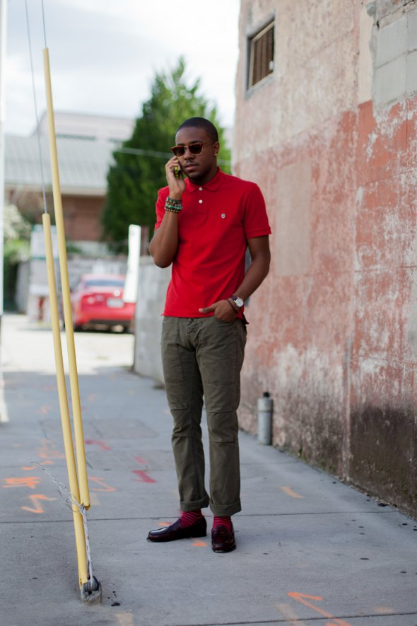 mens fashion, mens street style, southern mens fashion, loafers and red socks, polo shirts, red polo shirts, charleston fashion, southern fashion, king street