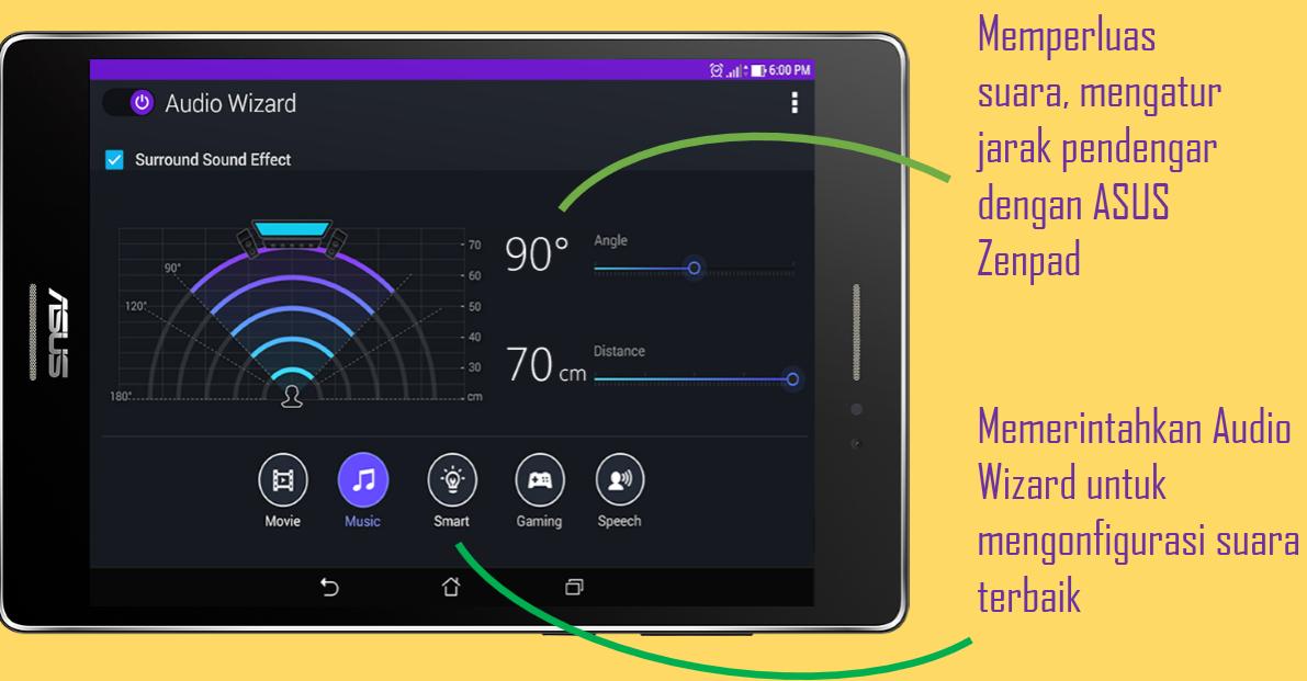 ASUS ZenPad C 7.0, AudioWizard