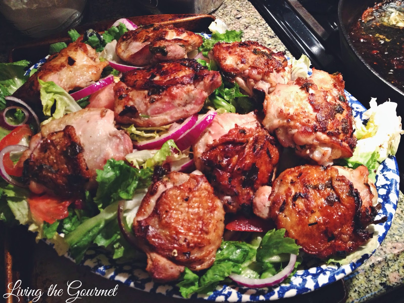Living the Gourmet: Ginger-Garlic and Lime Chicken Thighs with ...