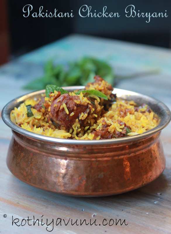 Chicken Biryani Recipe Pakistani Kothiyavunu.com -Flavo...