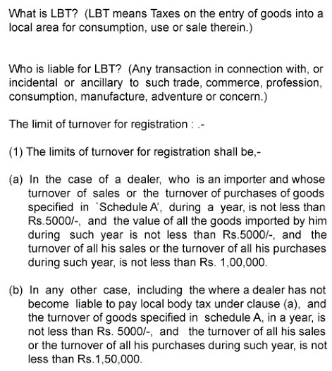 Local Body Tax - Maharashtra
