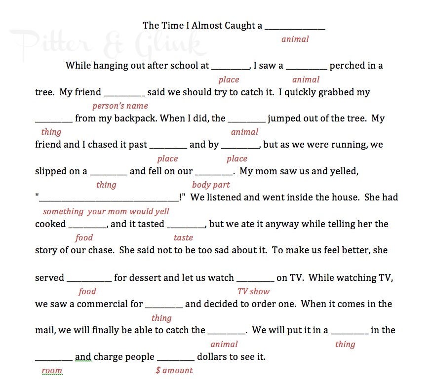 graphic relating to Camping Mad Libs Printable identified as PitterAndGlink: Summer season Enjoyment Camp: Felt Bracelets
