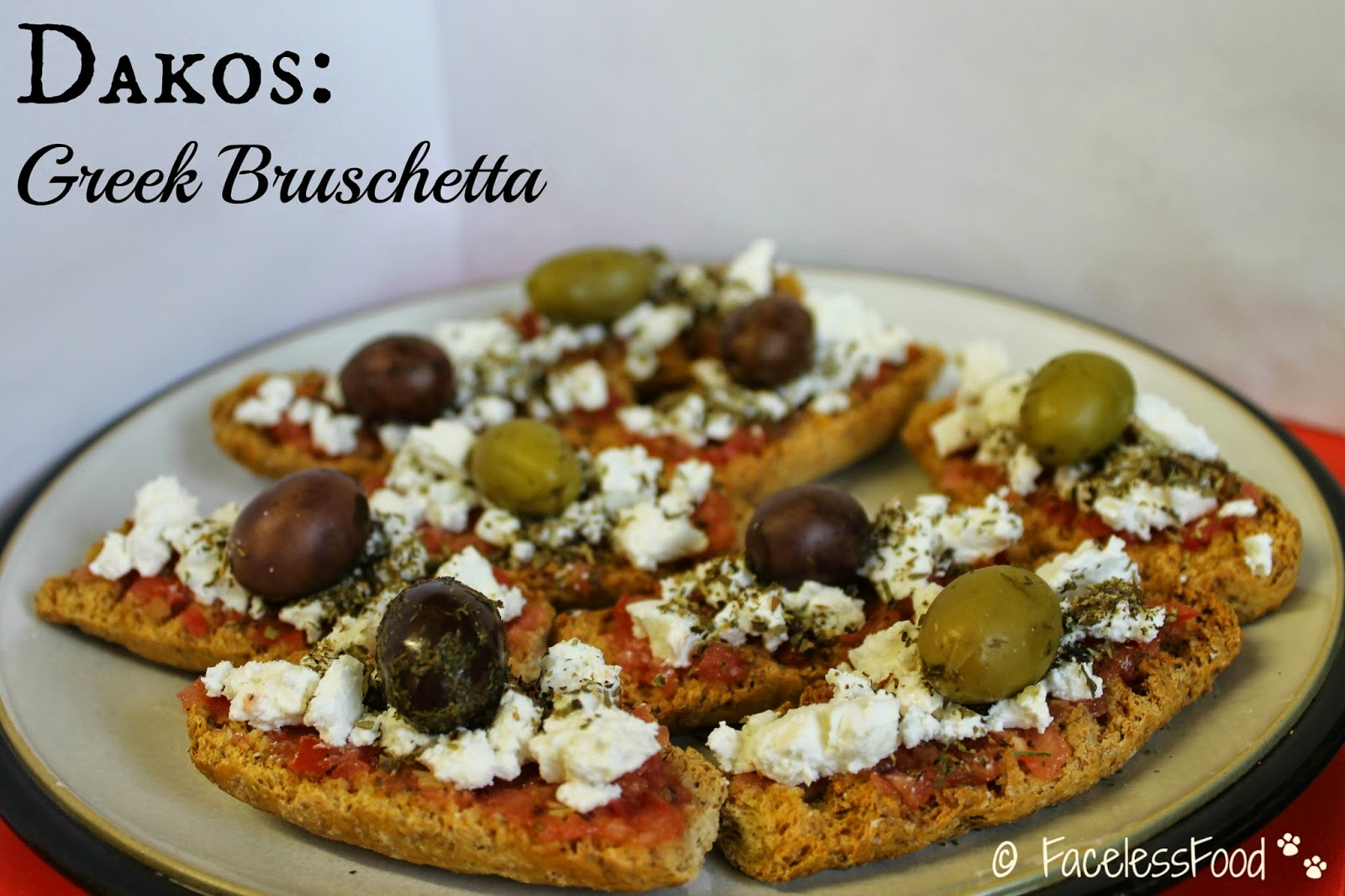 Dakos - Greek bruschetta