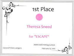 1st Place Award ~ Escape