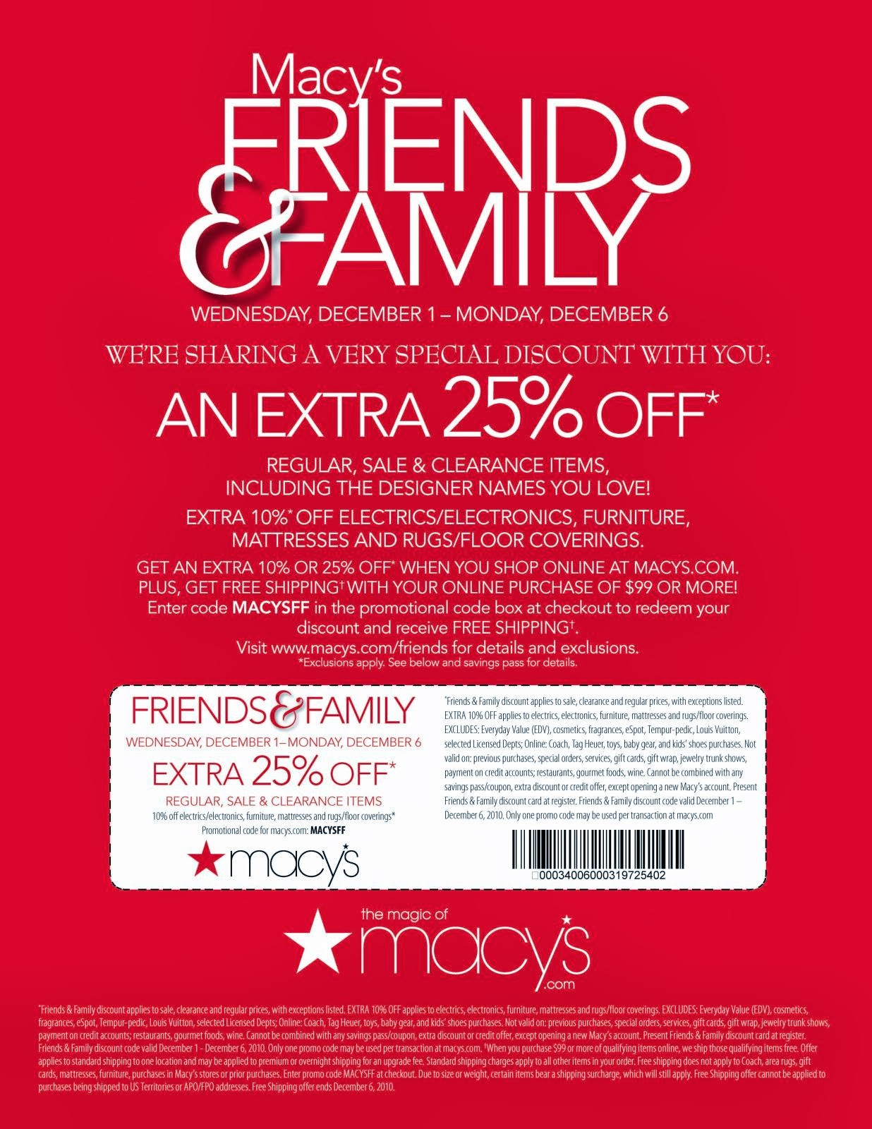 Discount coupon macys