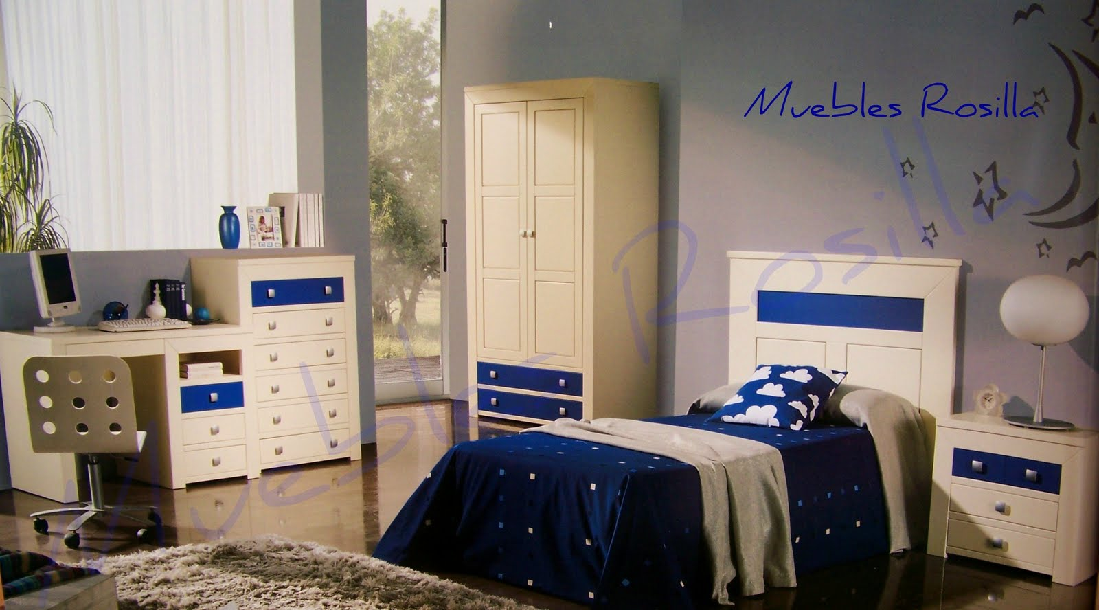 Muebles rosilla herv s dormitorio juvenil lacado en - Dormitorios juveniles de madera maciza ...
