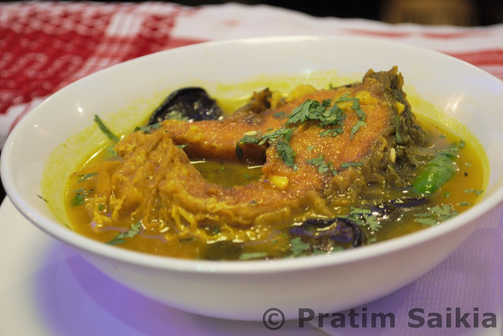 an assamese meal at delicacy bangalore