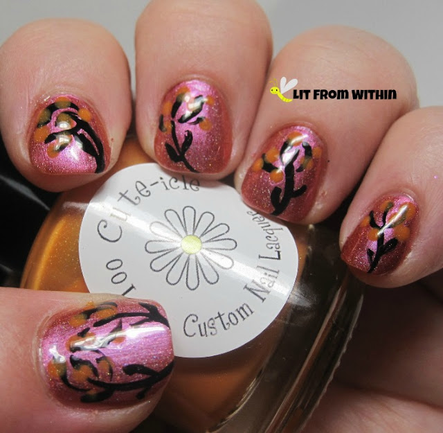 I used a dotting tool and Too Cute-icle Gorgeous to make the petals.