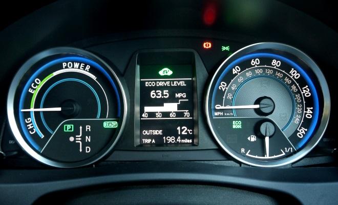 2013 Toyota Auris Hybrid instruments