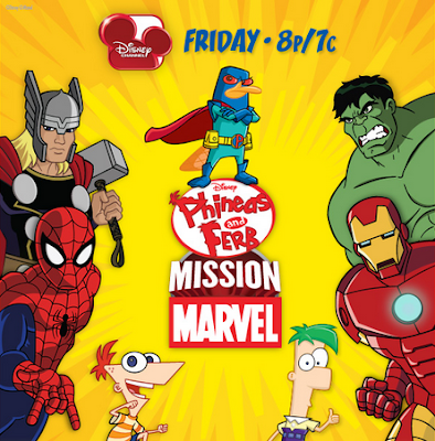 """debuts """"Phineas and Ferb: Mission Marvel"""" tonight - launches web games"""