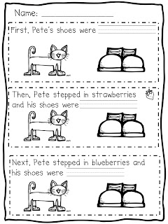 Gallery For gt Pete The Cat I Love My White Shoes Worksheets