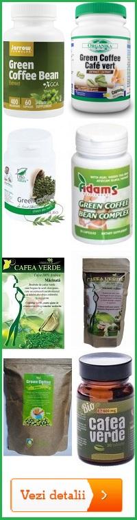 Sortimente cu cafea verde