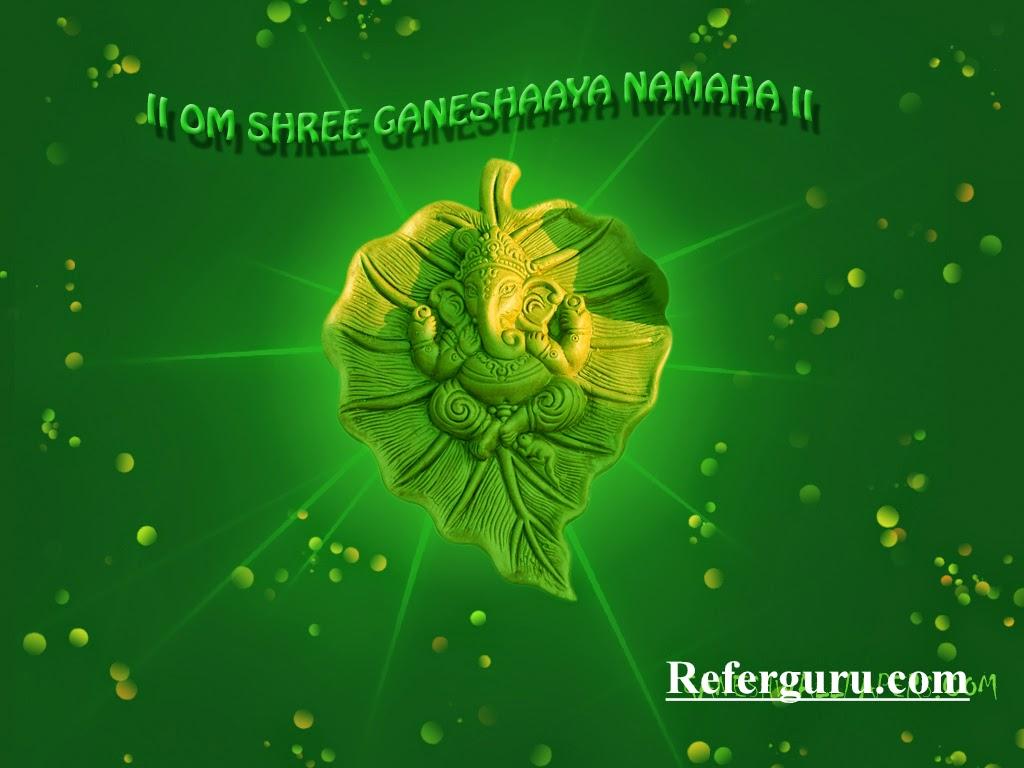 Go Green Ganesha Wall Paper