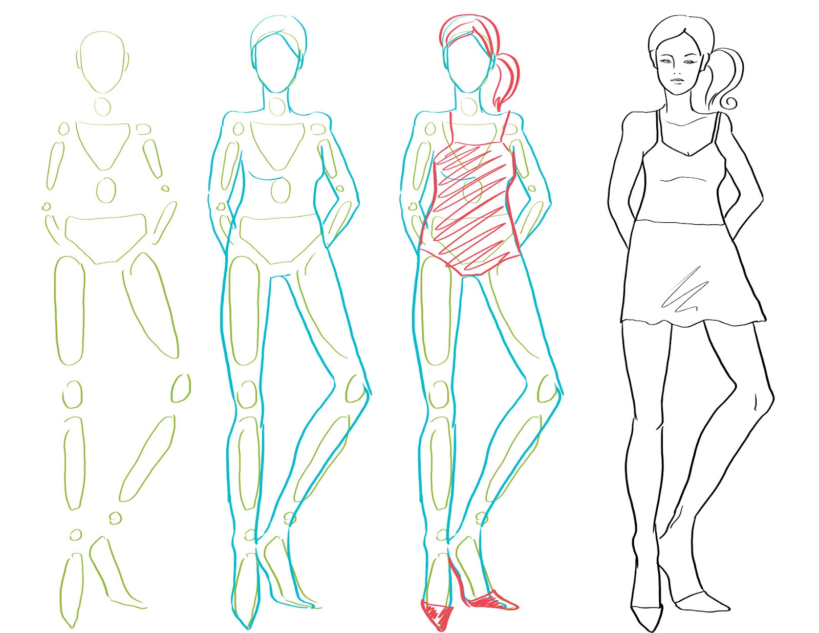 How To Draw Fashion: How to Draw the Body / Fashion Figure Drawing: www.howtodrawfashion.com/p/figure-drawing.html