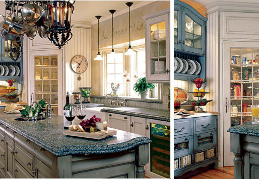 Pictures of romantic country kitchen decor afreakatheart for Old country style kitchen ideas