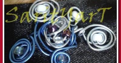 Sarityart manualidades broche con alambre galvanizado - Alambre galvanizado manualidades ...