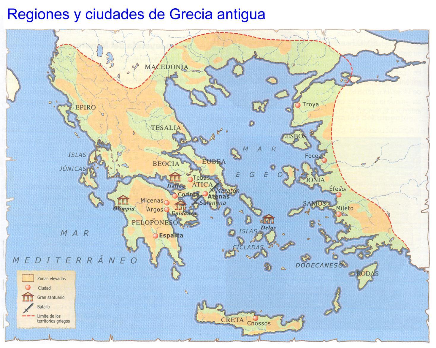 Grecia antigua mapas for Oficina de turismo de grecia