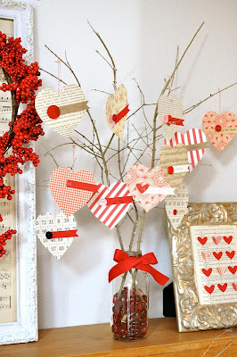 Decoracion San Valentin con washi tape