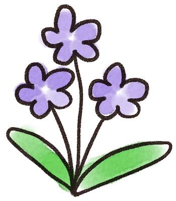 すみれのイラスト(花)