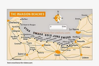 d day invasion map  Map 1. Normandy -