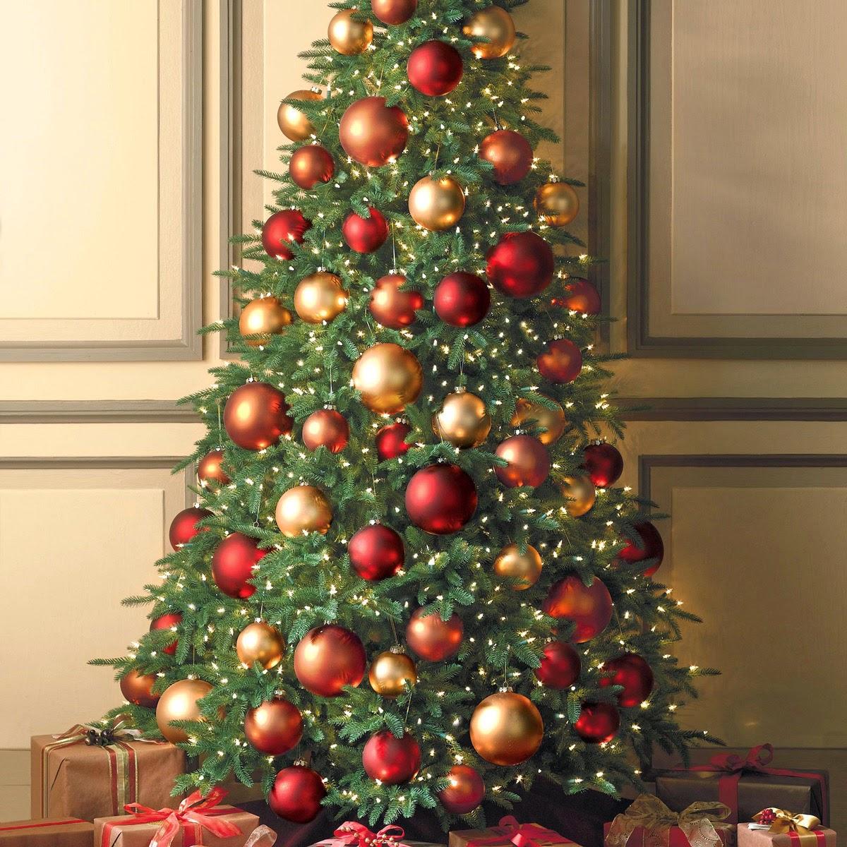 Arboles de navidad con esferas parte 1 for Arbol de navidad con bolas rojas