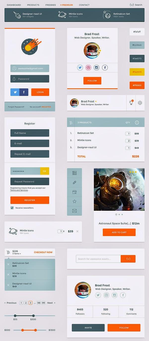 Designer UI Kit PSD