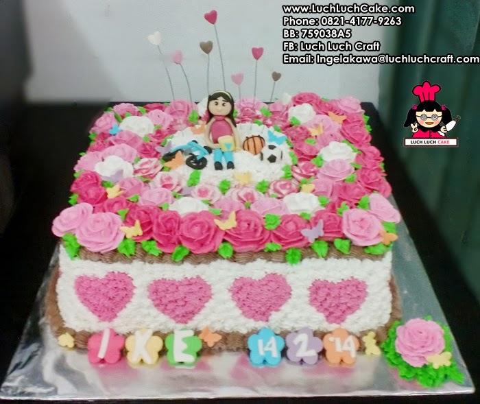 kue tart ulang tahun hati cantik