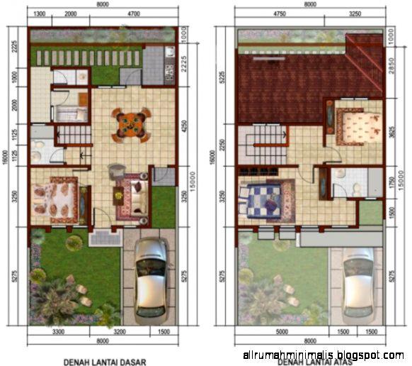 Rancangan Rumah Minimalis 2 Lantai
