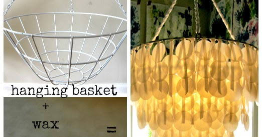 Wax Paper Chandelier Upcycle wax paper chandelier the refab diaries audiocablefo
