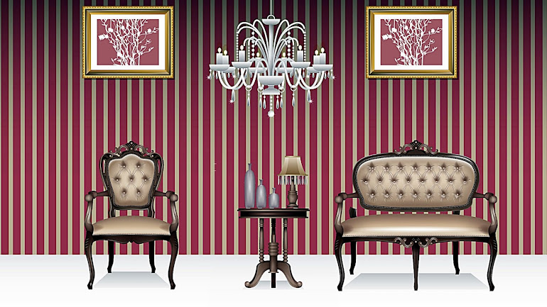 Interior striped room