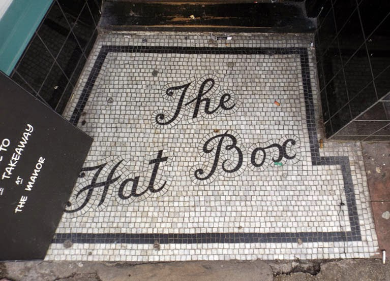 the hat box mosaic doorway brighton north laine