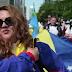 VÍDEO INCREÍBLE. Marcha en Bruselas a favor de Venezuela.