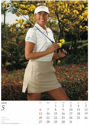 paula creamer golf digest japan calendar 2012