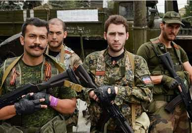 French fighters in Eastern Ukraine