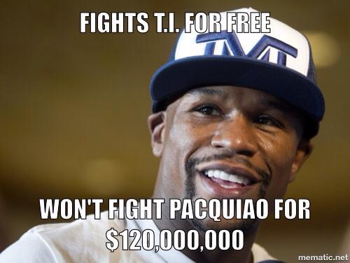 Floyd Mayweather jr  fight bums