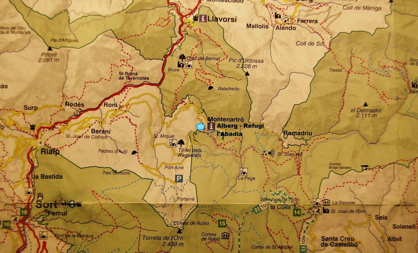 el pallars sobirà,                           clickeu per veure el mapa de la zona