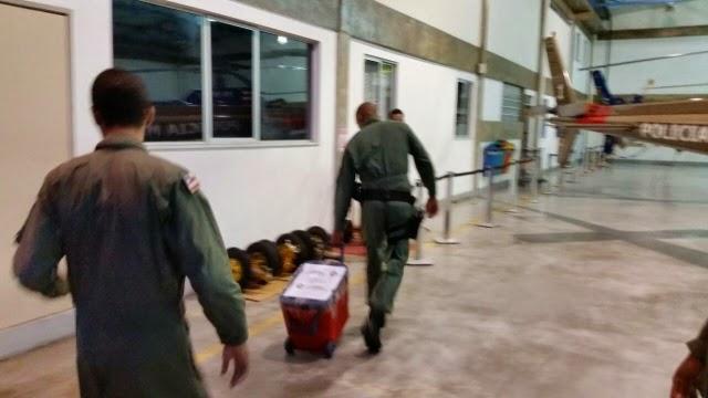 Helicóptero da polícia transporta órgãos para serem transplantados em outros Estados