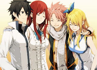 Gray Fullbuster Erza Scarlet Natsu Dragneel Lucy Heartfilia Fairy Tail Anime HD Wallpaper Desktop PC Background 1914