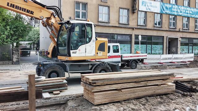 Baustelle Invalidenstraße / Chausseestraße, Strassenbauarbeiten, 10115 Berlin, 19.04.2014