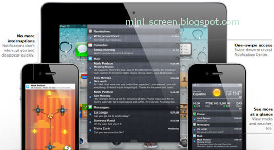 iOS 5 Copycatting Android's Notification Bar at The Top Homescreen