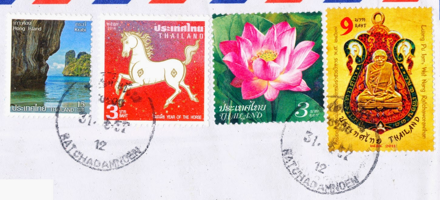 year of the horse, stamp, hong island, luang pu iam, flower