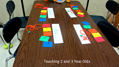 Teaching 2 And 3 Year Olds Rainbow Threading Necklaces