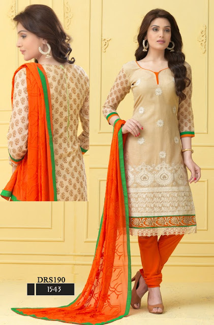 Buy Gorgeous Chanderi Cotton Dress Material