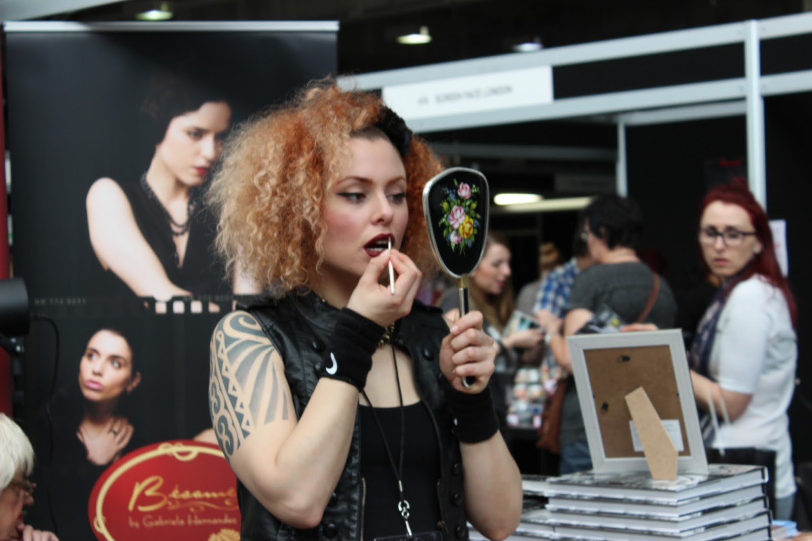 IMATS london 2014 applying lipstick