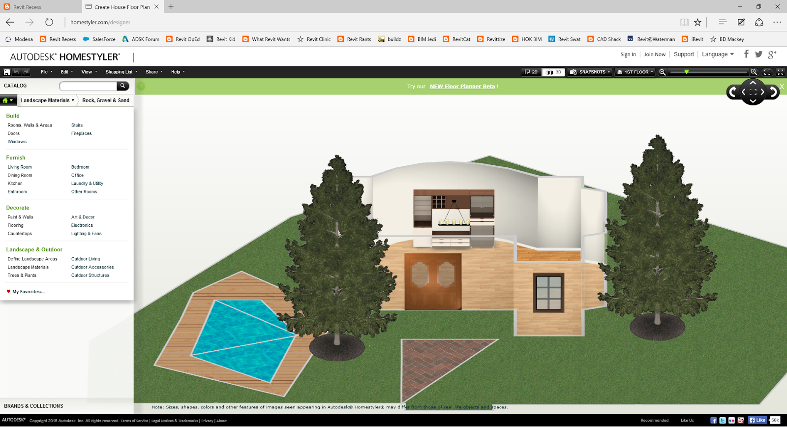 I believe that for the average person who would like to investigate their options when designing a home  Autodesk Homestyler will provide a good. Revit Recess  Introduction to Autodesk Homestyler